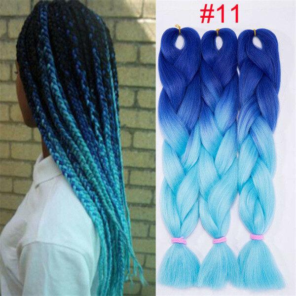 Bím tóc tết khổng lồ từ sợi tổng hợp màu Ombre cho nữ (có nhiều màu khác nhau) - INTL