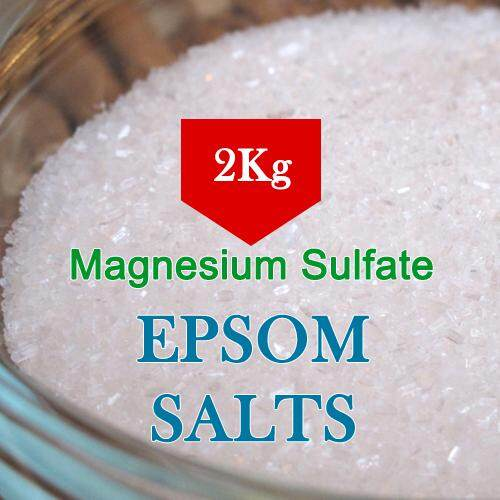 ⭐BEST DEAL⭐ 2Kg Epsom Salt for gardening / Magnesium Sulfate / Sulphate / High Purity Water Soluble / MGS / MgSO4