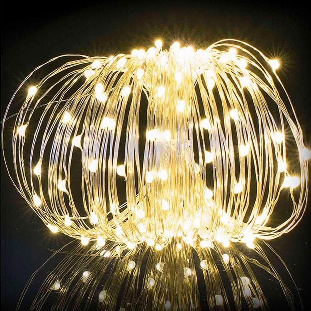 Zada Mall แฟชั่น Tiktok ขายดี!!! Fairy ไฟเทพนิยายแบบสายทนทานพลังงานแสงอาทิตย์ 200led Yard Festival By Zada Mall.
