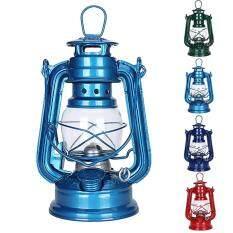 Đèn Dầu Lửa Cổ Điển Cắm Trại Ngoài Trời, Đèn Lồng Phong Cách Địa Trung Hải Bằng Sắt Rèn