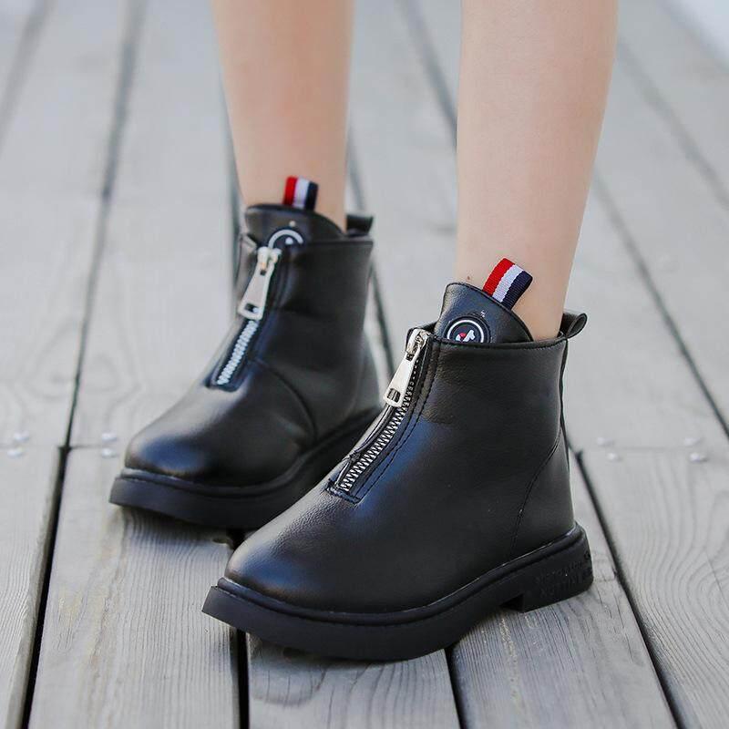 Giá bán Mùa Đông Năm 2019 Trẻ Em Đế Mềm Trẻ Em Giày Bốt Martin Giày Thời Trang Bé Gái Giày