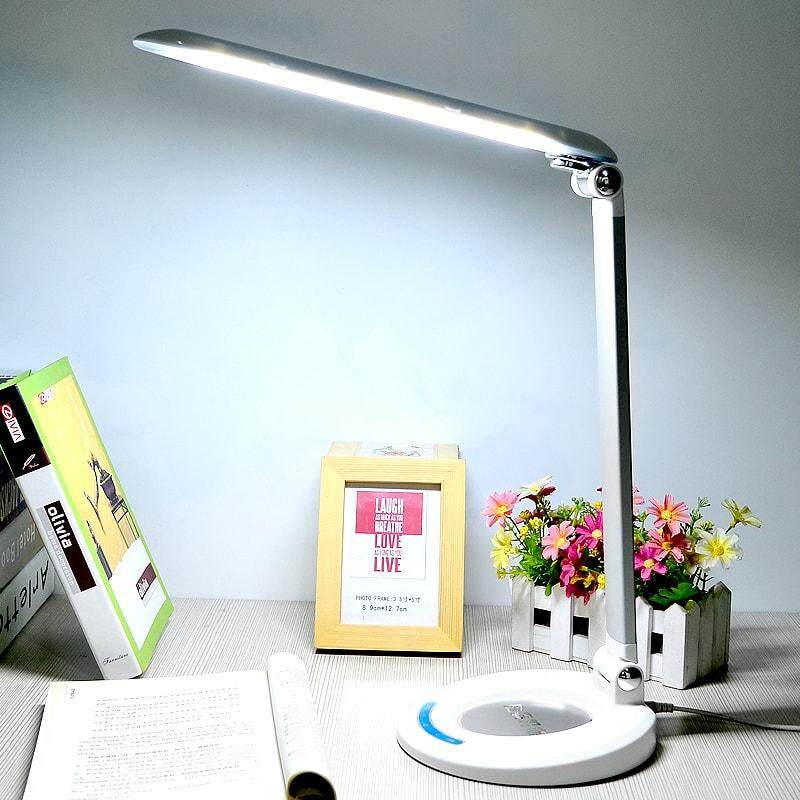 LED Desk Lamp, 6W Eye-Care Desk Light ( Ultrathin Aluminum Alloy, Dimmable Lighting Mode, Touch Control Pannel) for Reading/Study/Relaxation/Sleeping