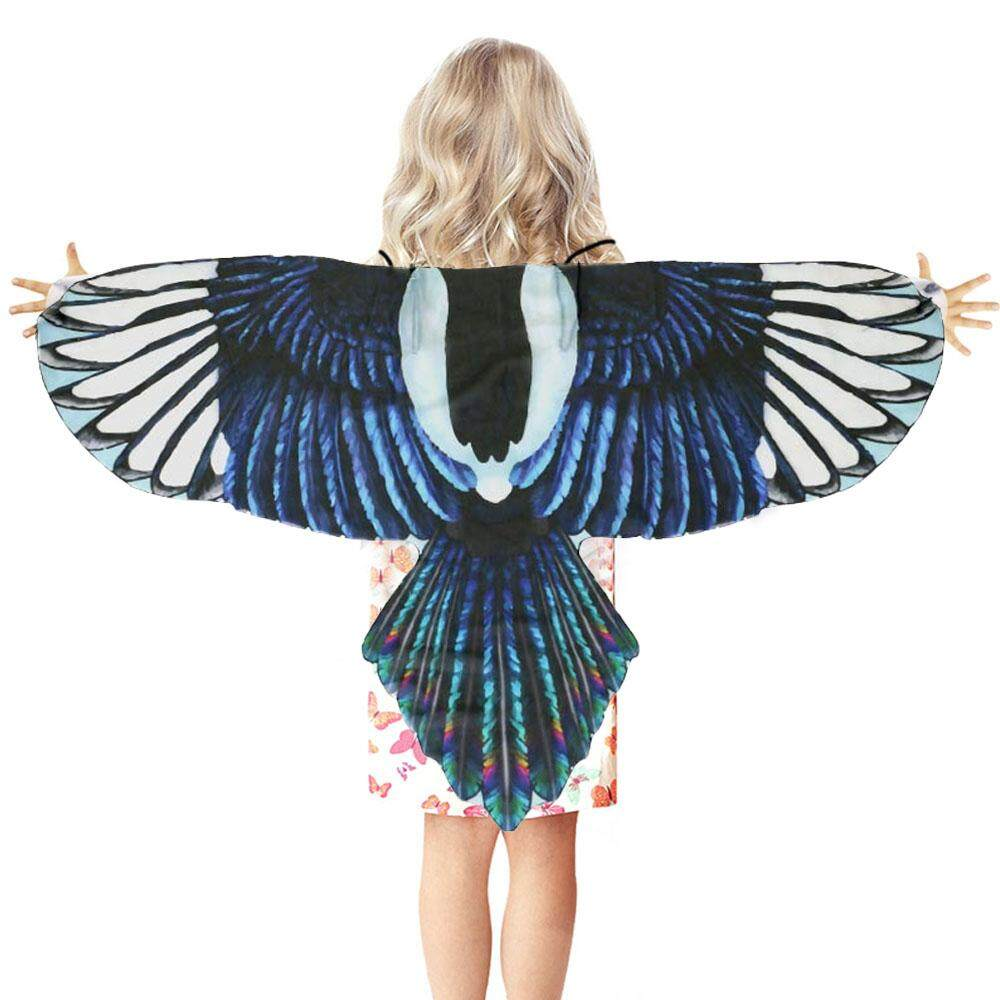Funny Simulation Bird Wings Costume with Headband for Kids Children Boys Girls Halloween Masquerade Role Play Dress-up Themed Party