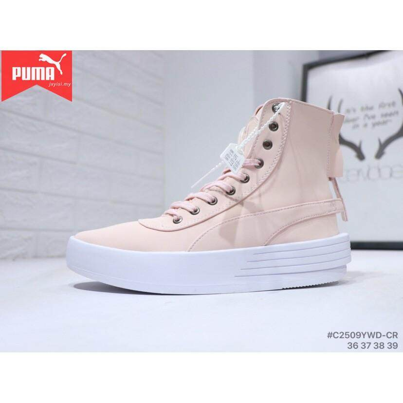 Brand Pumas XO PARALLEL Womens PINK shoes leather boots woman sneakers  winter Platform 2fe90e1bc