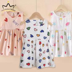 Váy Ba Lỗ Bé Gái In Hình Trái Cây Dễ Thương Váy Không Tay Cotton Công Chúa Cho Bé Váy Mùa Hè In Hình Tình Yêu Hoạt Hình Cho Bé Gái