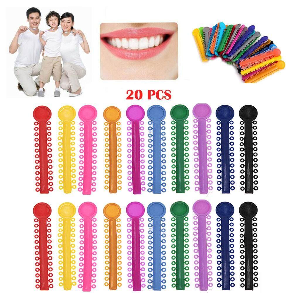 20 PCS Assorted Color Dental Orthodontic Ligature Ties Elastic Rubber Braces