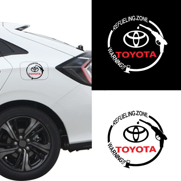 1 Miếng Dán Nắp Bình Xăng Logo Xe Hơi, Decal Dán Trang Trí Xe Hơi Thời Trang Cho Toyota Corolla Yaris Rav4 Avensis Auris Camry C-HR 86 Prius