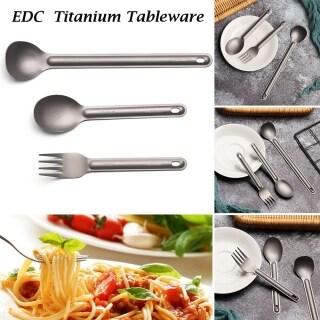SAUSAGE Siêu nhẹ Đũa vuông Dụng cụ cắm trại EDC Cầm tay Muỗng tay cầm dài Bộ đồ ăn bằng Titanium nguyên chất Phụ kiện dã ngoại ngoài trời Nĩa dao kéo thumbnail