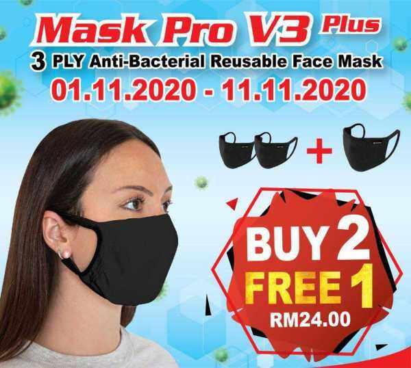 MASK PRO 3 ply Reusable Mask 11 sale