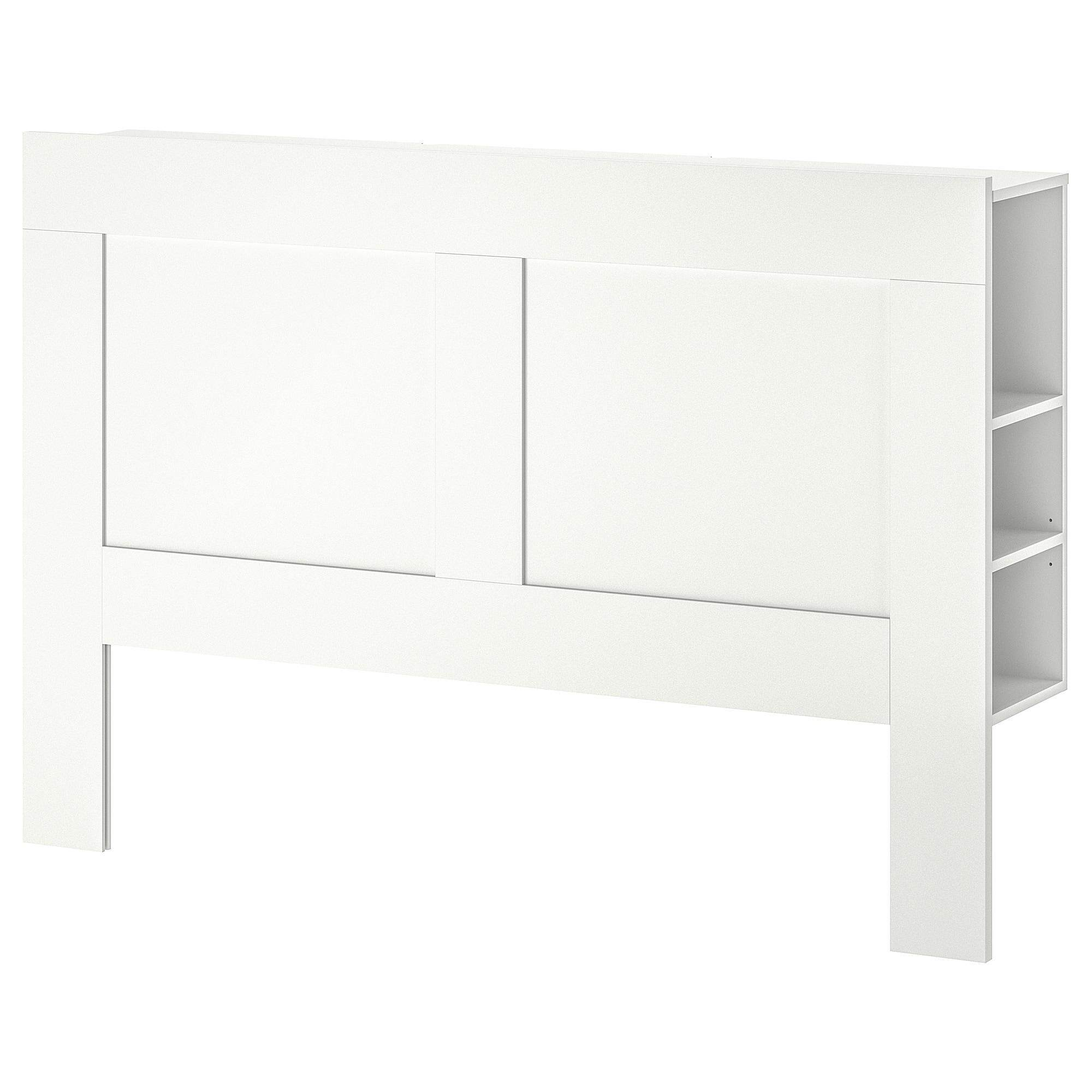 Brimnes Headboard With Storage Compartment White 150 Cm By Eightynine.