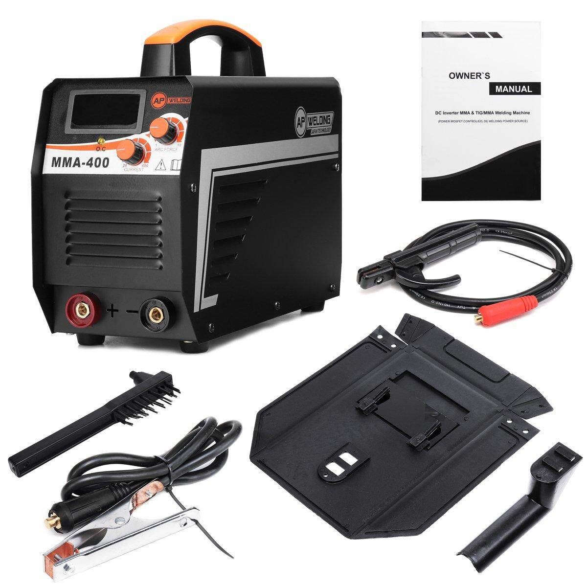 【Free Shipping + Super Deal + Support Cash on Delivery】220V DC MMA-400 Electric Welding Machine IGBT Arc Inverter Stick Welder + Clamp