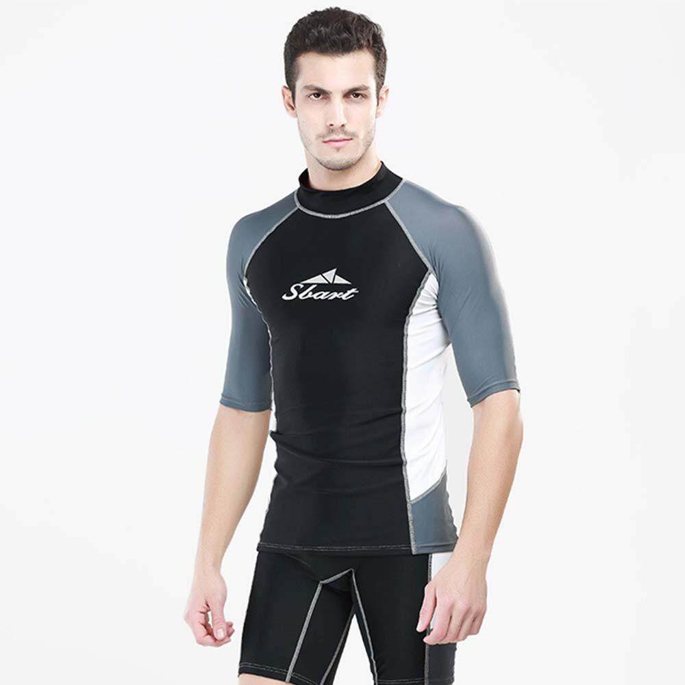 7240b8f481 Men Sunscreen Surfing Jacket Zipper Swimsuit Anti-UV Quick Dry Swimming  Diving Suit