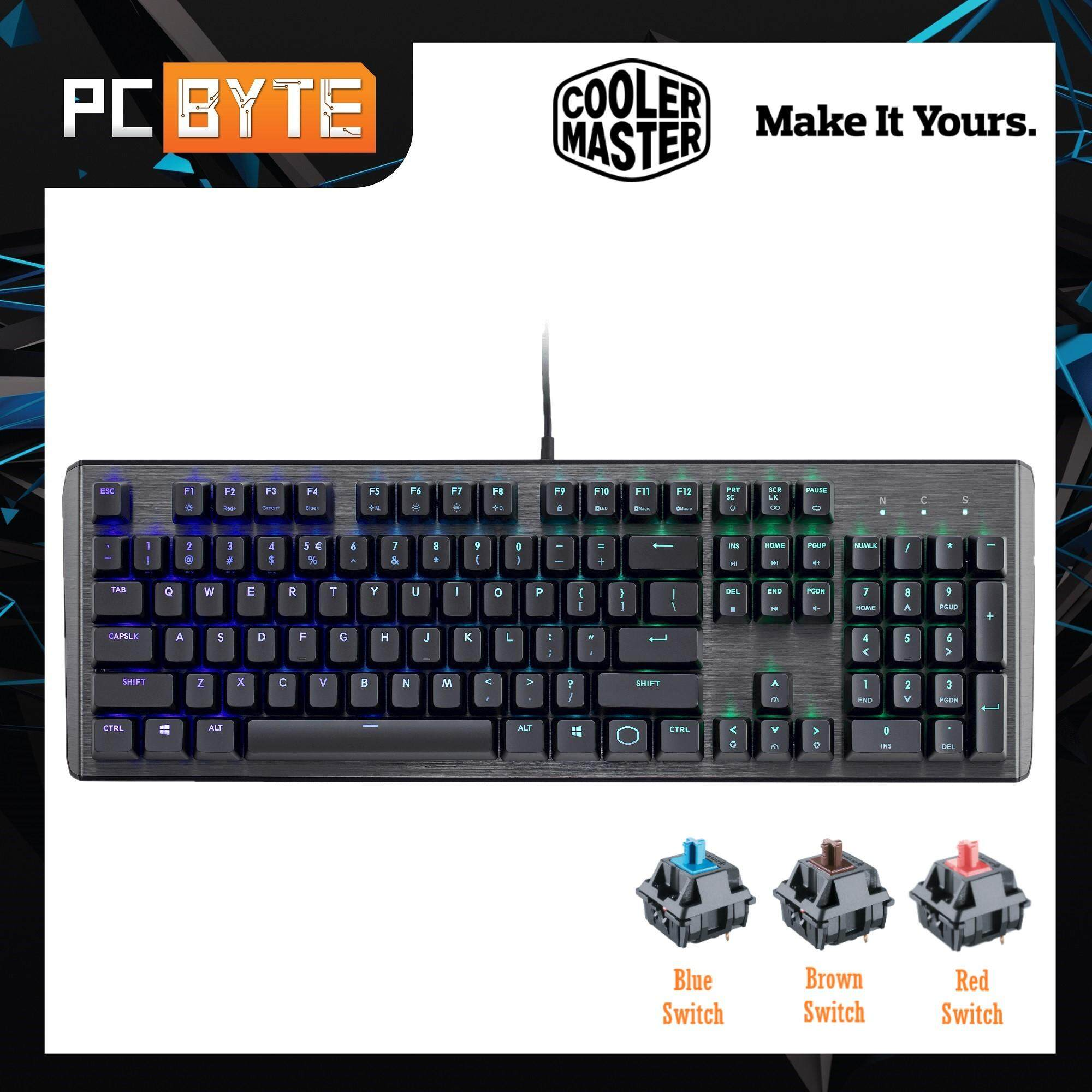 CM MasterKeys CK550 RGB Gateron Switch Gaming Keyboard (Blue/ Brown/ Red Switch) Malaysia