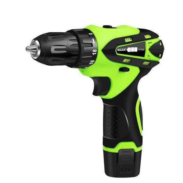 HILDA 12V Electric Screwdriver Electric Drill Lithium Cordless Drill Cordless Screwdriver Mini Drill Rotary Tool Power Tools