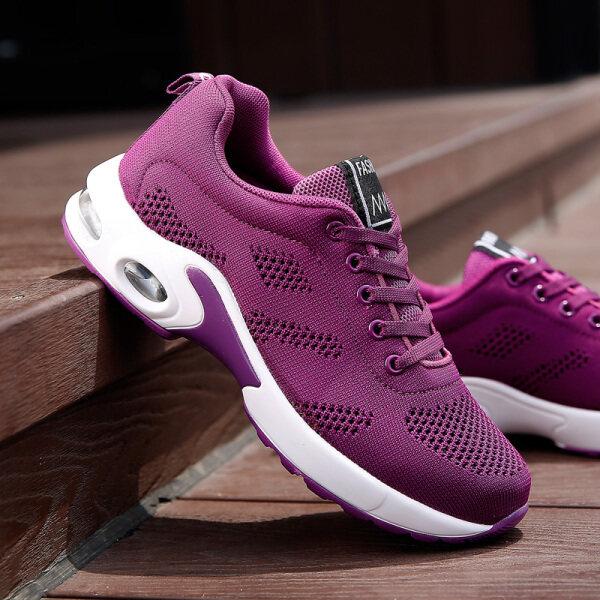 JIOS New Fashion Women s Flying Weave Shoes Air Cushion Damping Running Shoes
