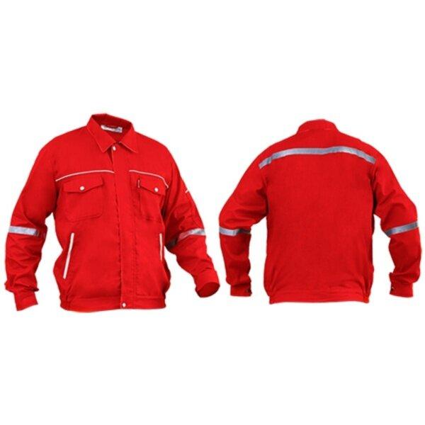 SHAMARR Pre Shrunk Safety Working Jacket (RED)