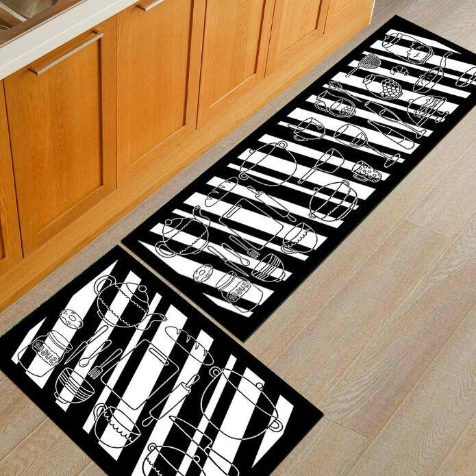 2pcs/set Kitchen Mat Carpet Anti Slip By Sc Automation.