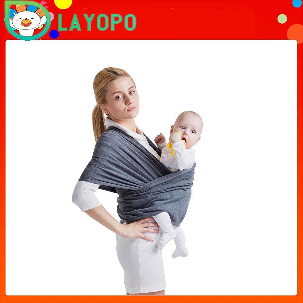 91691f4735f LayOPO Baby Wrap Carrier - All-in-1 Stretchy Baby Wraps - Baby Sling