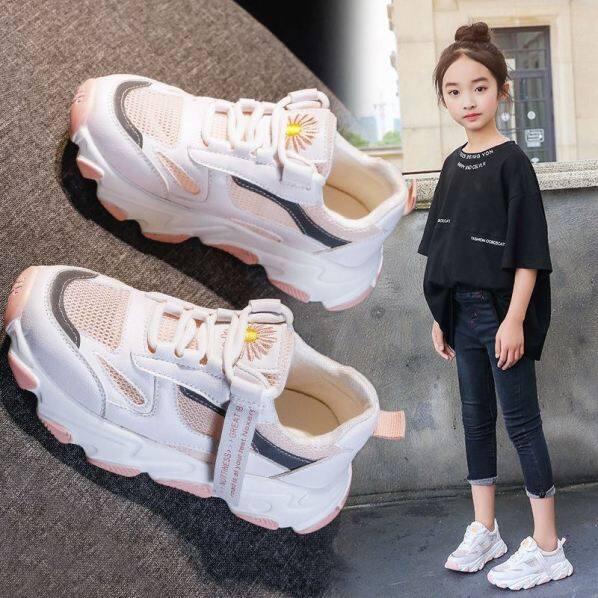 Giày Thể Thao Trẻ Em, Giày Nữ Màu Trắng, Giày Thường Ngày Đế Mềm Thoáng Khí Giày Lưới Giày Cũ Giày Bé Gái Mới 2020 giá rẻ