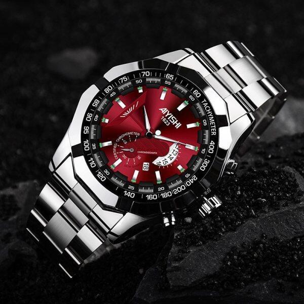 Watch men Smat watch Mens Watches Waterproof Wrist Watch Date Quartz Watch For Men Sports Clock Luxury Steel watch strap Malaysia