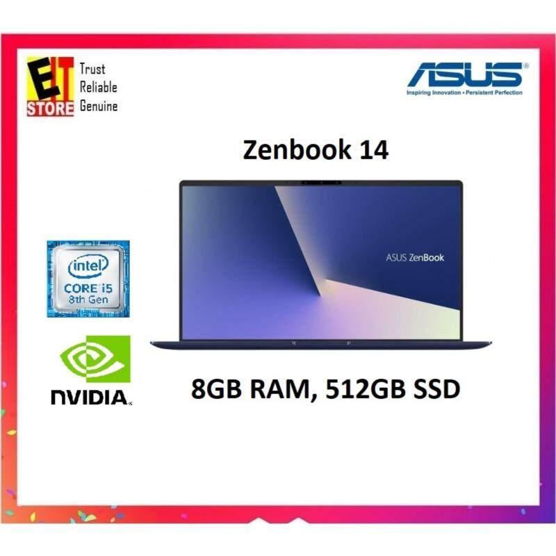 Asus Zenbook UX433F-NA6153T 14 FHD Laptop Royal Blue (i5-8265U, 8GB, 512GB, MX150 2GB, W10) Malaysia