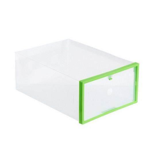 Yika Transparent Foldable Plastic Drawer Shoe Case Storage Stackable Box