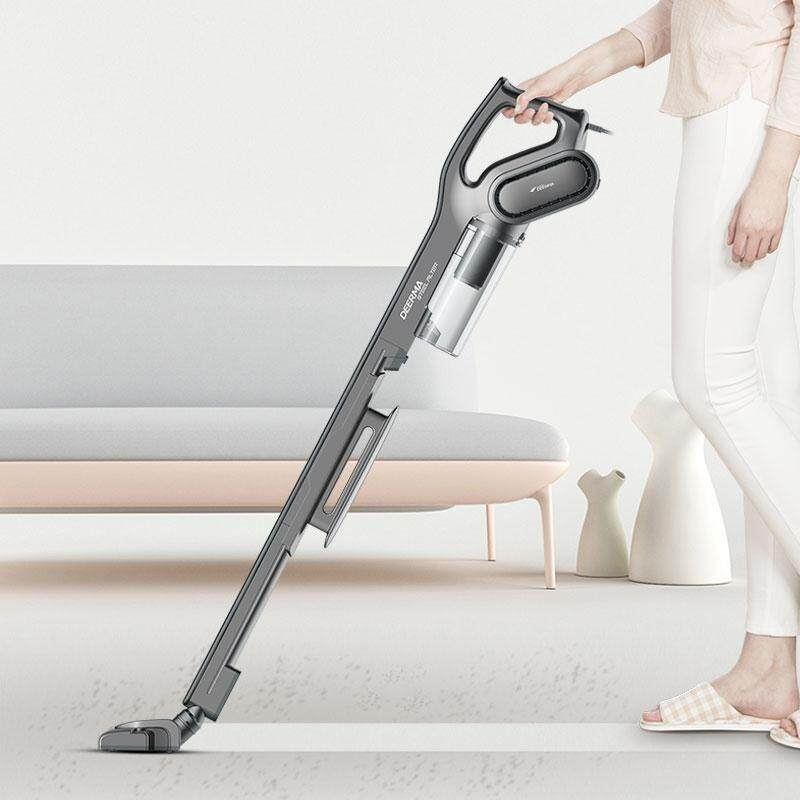 Deerma DX700S Portable Handheld Strong Suction Vacuum Cleaner Side Spin Vacuum Super Low Noice Handheld Vacuum DX700S Suction Cleaner Singapore