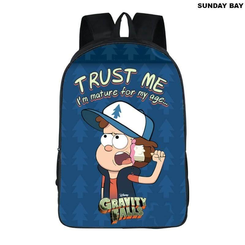 594735f6fc71 Cartoon Children Bookbag Decompression Large Capacity Cartoon Printed  Shoulder Bag gravity falls Large Capacity Backpack