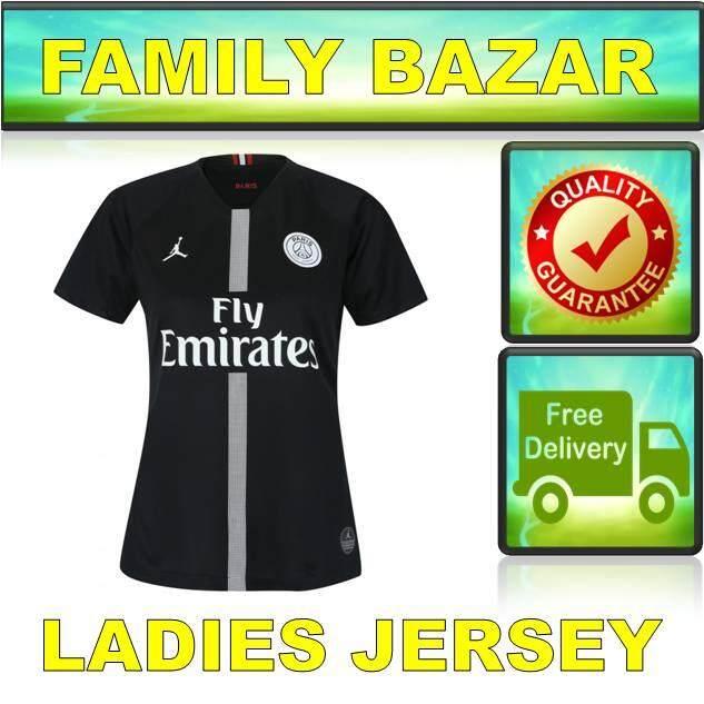 (ready Stock) 18-19 Ladies Paris Saint Germain Black Jordan X Psg Women By Family Bazar.