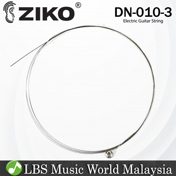 Ziko DN-010-3 Electric Guitar 3rd Loose String Nickle Wound Extra Light Special Bright (DN010) Malaysia