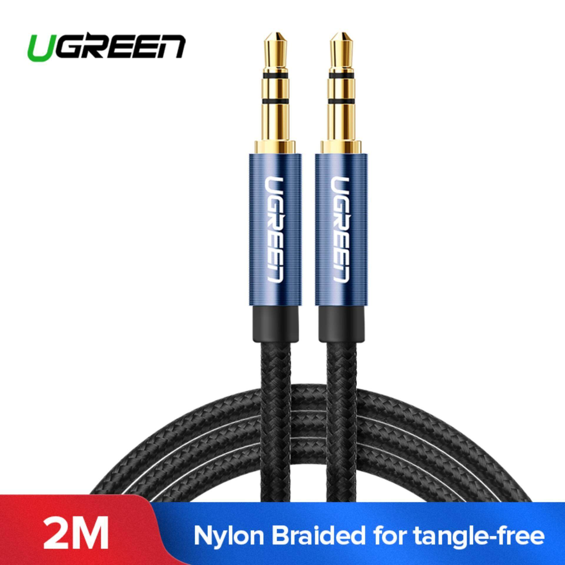UGREEN 2 Meter 3.5mm Nylon Bradied Audio Cable Compatible for iPhone, iPad or Smartphones