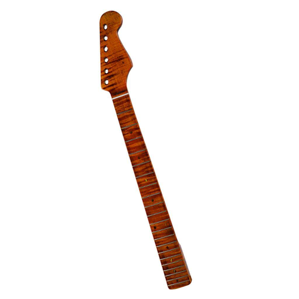Baoblade Tiger Flame Maple Guitar Neck 21 Fret Fretboard For Strat Style Electric Guitar By Baoblade.