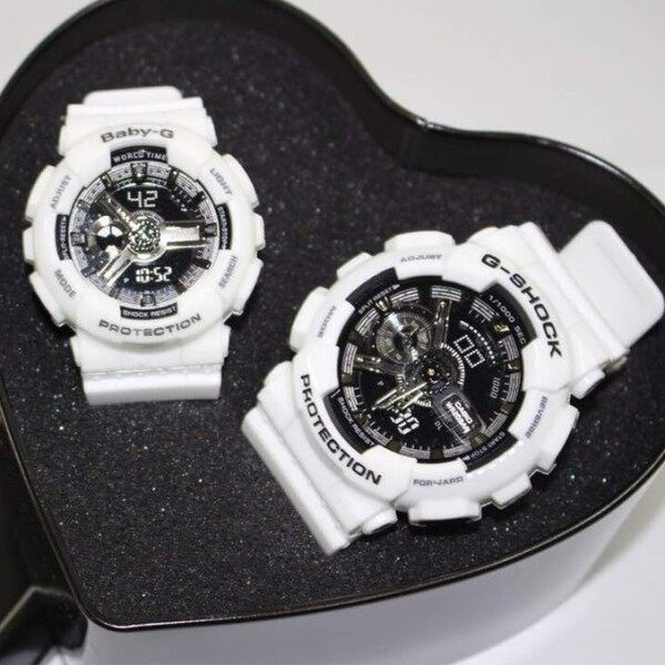 SPECIAL PROMOTION CASI0 G... SHOCK_ DUAL TIME RUBBER STRAP WATCH SET FOR COUPLES Malaysia