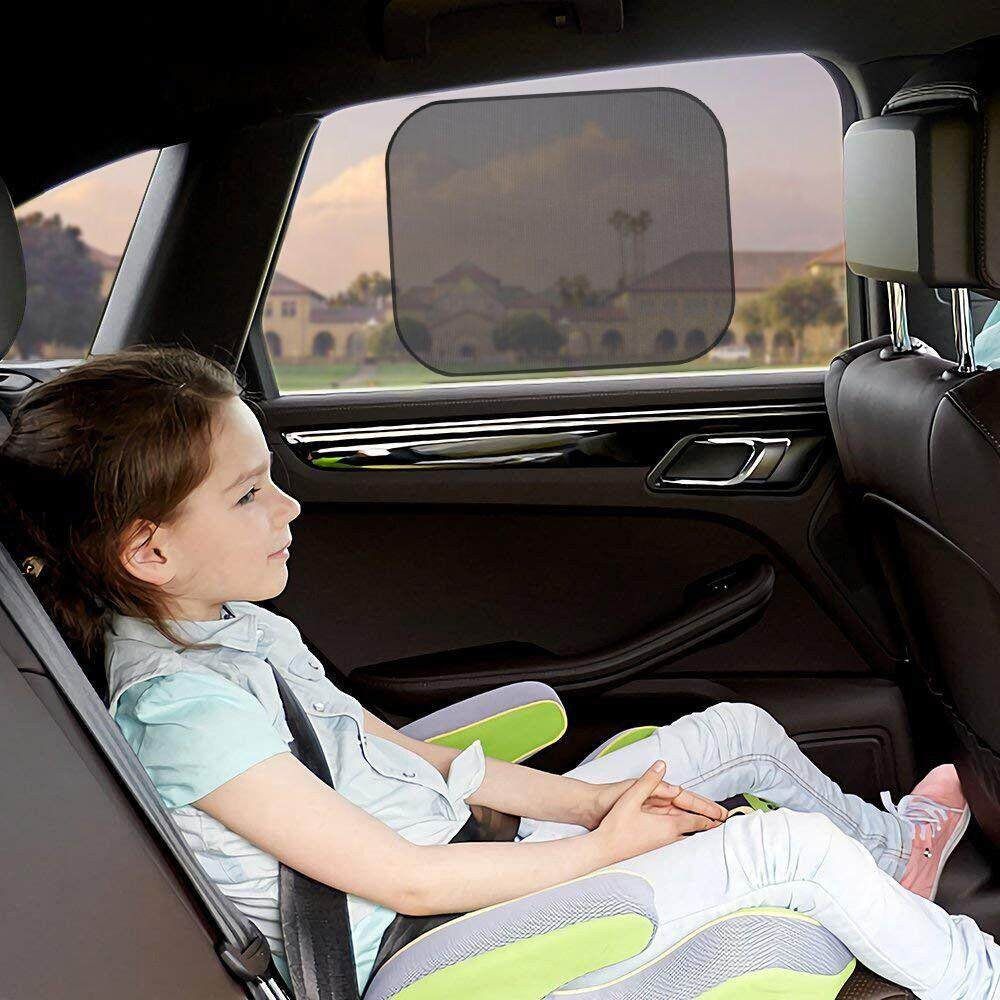 Chic Mesh Car Side Window Shade Cling Sunshades Sun Shade Cover Visor Shiel