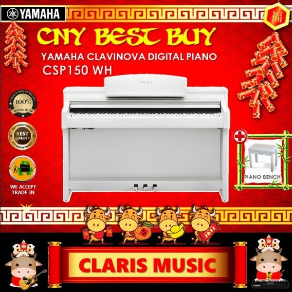 YAMAHA CLAVINOVA DIGITAL PIANO (MODEL: CSP150 WH) OPEN UNIT! Malaysia