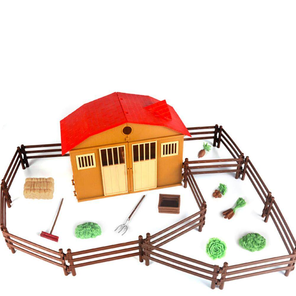 Simulated Sand Table Scene Model Of Farm Ranch House Toy Set Children Intelligence Toy Model Model Building Kits