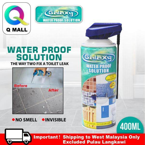 GALAXY 400ML Interior Exterior Water Proof spray  Solution Toilet Leak Water Proof