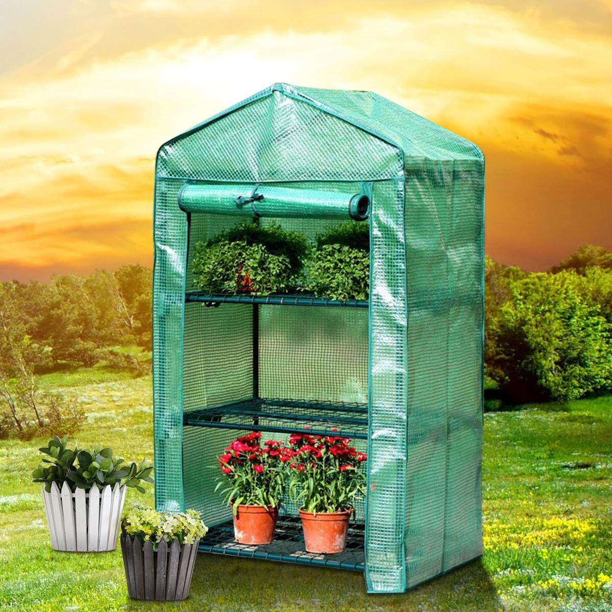 Roof Garden Greenhouse House Flower Plant Warm Shelf Shed Durable PVC Cover