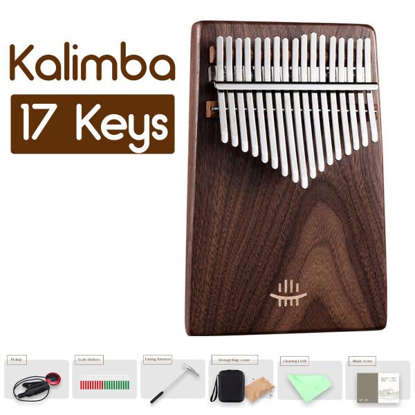 17 Phím Kalimba , Thum Ngón Tay Đàn Piano, Dụng Cụ Tập Luyện Bằng Gỗ Cho Người Mới Bắt Đầu Món Quà Giáng Sinh