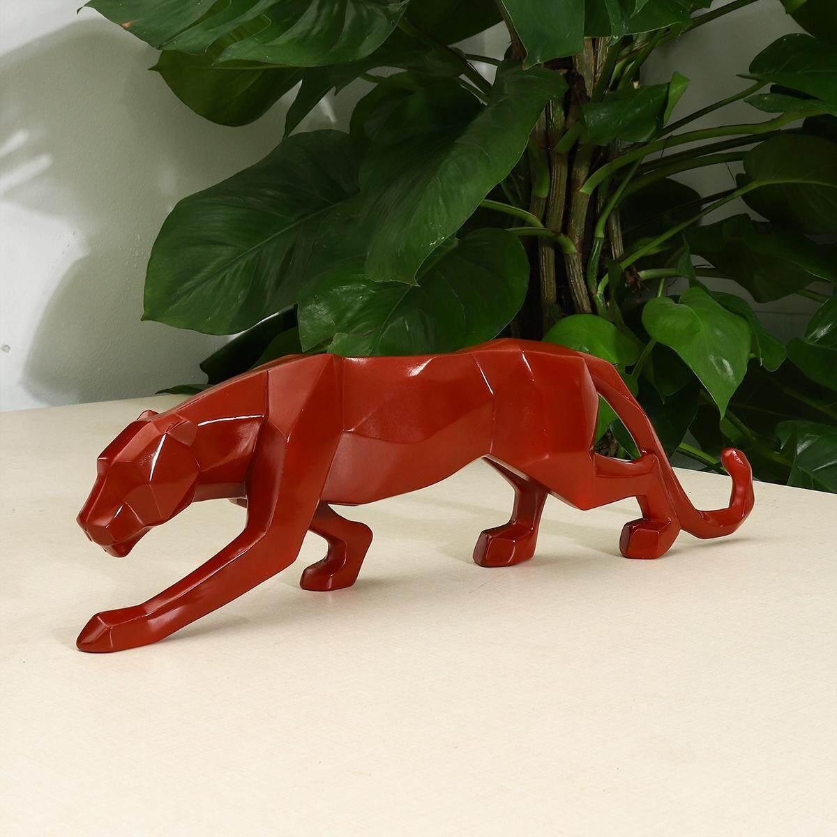 45.5*13.5*4/26*5*8.5 cm Modern Abstract Art Leopard Resin Geometric Resin Model Gift Decoration