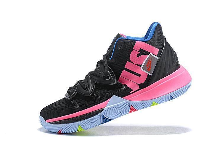 d09cb44d19f Nike Original Kyrie Irving 5 Dark blue Pink MENS Basketaball Shoe Sport