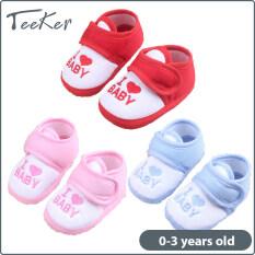 [Teeker] Giày Em Bé, Giày Trẻ Tập Đi Chống Trượt, Giày Vuông Chống Trượt Cotton Cho Bé Trai Bé Gái 0-3 Năm