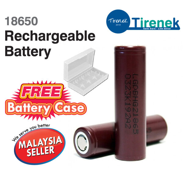 [2pieces] 18650 Vape Battery Rechargeable Battery 20A Batteries - Free Vape Battery Case Malaysia