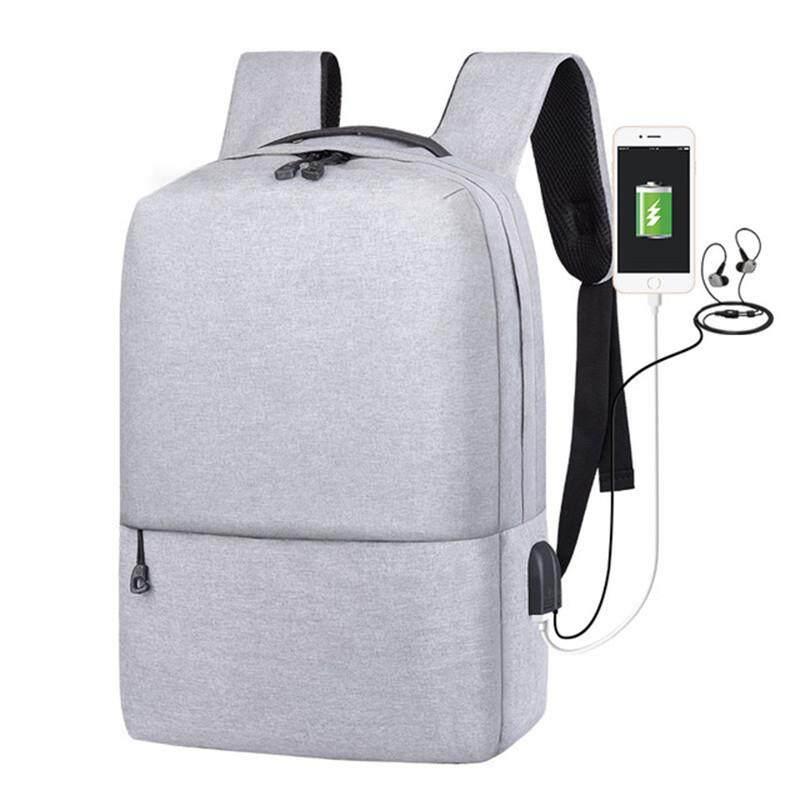 กระเป๋าเป้สะพายหลังแล็ปท็อป Usb ชาร์จพอร์ตกระเป๋าเดินทางกันน้ำ Anti - Theft กระเป๋านักเรียนสะพายหลัง R8002 By Runou Bags.