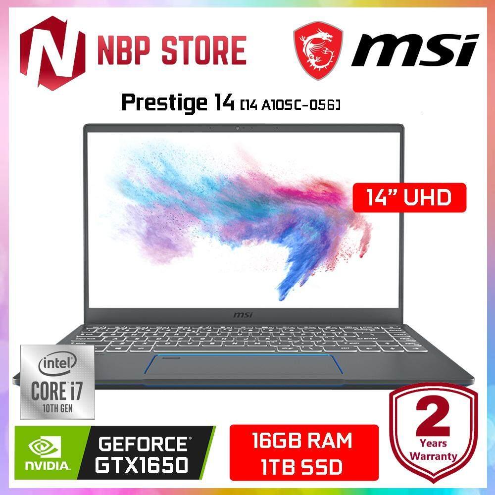 MSI Prestige 14 A10SC-056 14  4K UHD Laptop ( i7-10710U, 16GB, 1TB SSD, GTX1650 4GB Max-Q, W10P ) Malaysia