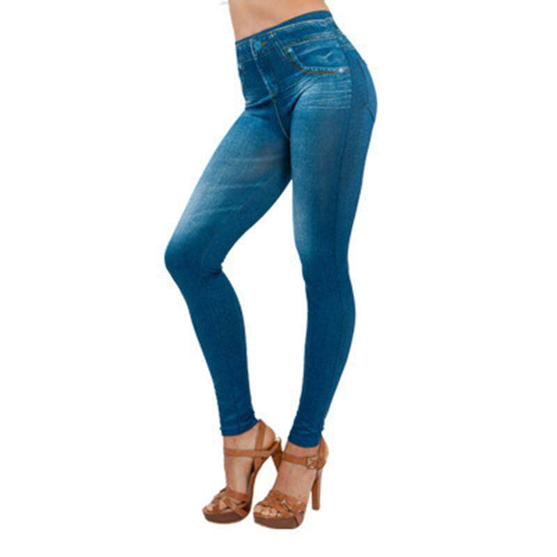Zotop ผู้หญิงยีนส์ผ้าบางกางเกงขายาวกระเป๋าเอวสูงเข้ารูปพอดีกางเกงยีนส์กางเกง By Zotop.