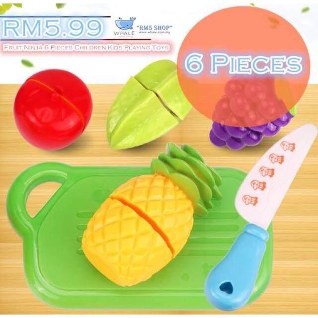 6 PIECES FRUIT NINJA CHILDREN KIDS PLAYING TOYS