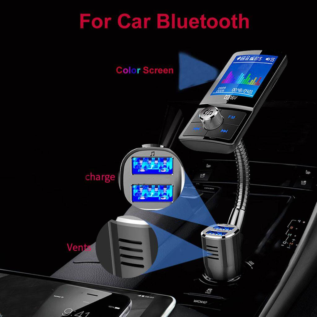 Grendany Store Private call Real-time battery voltage detection Color  Screen For Car Bluetooth MP3 USB Charge Multi-language Card MP3 FM