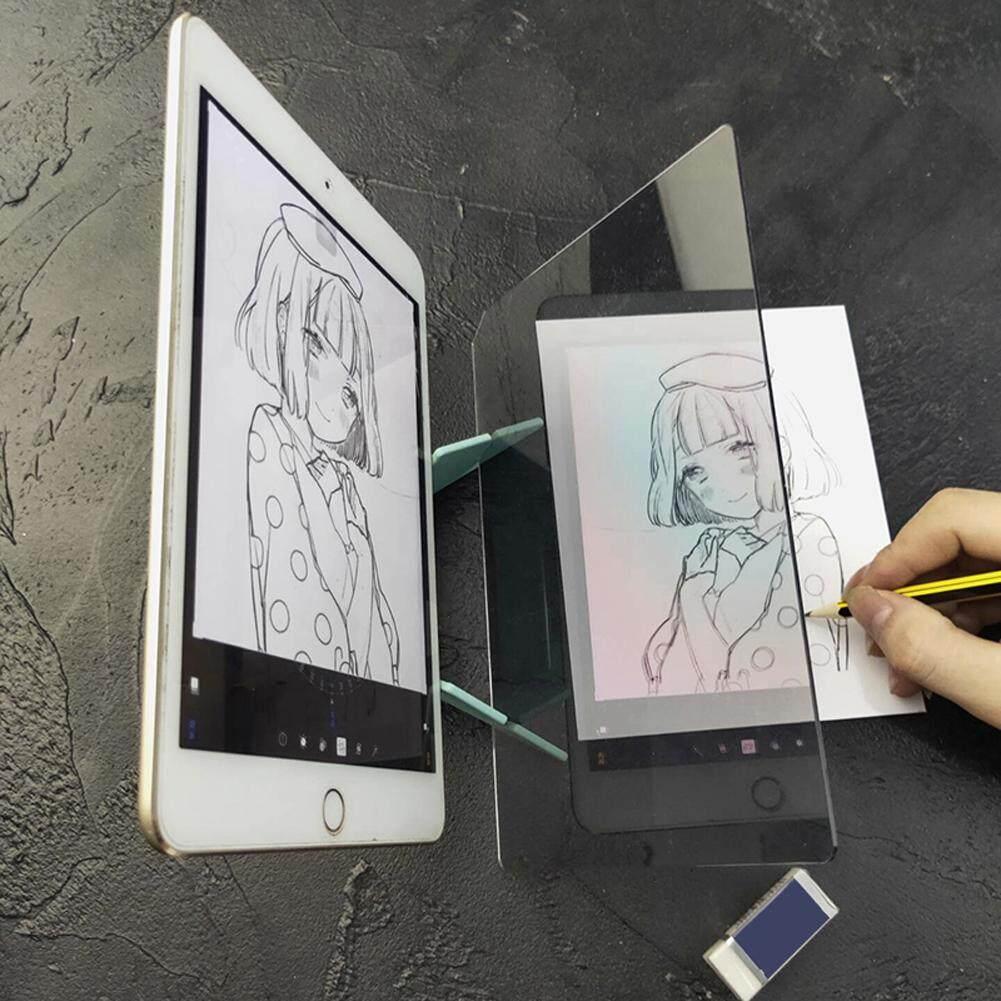 [YP Eforcelxt MY] Pencitraan Papan Gambar Sketsa Refleksi Peredupan Bracket Cermin Lukisan Piring Tracing Copy Meja Proyeksi Papan Plotter