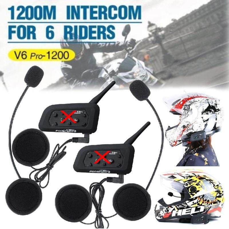 b1374f30f71 CENBLUE V6 Pro-1200 Vnetphone Motorcycle Helmet Bluetooth Walkie Talkie  Headset Single Pack